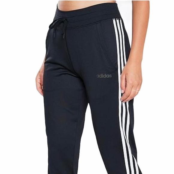 Adidas | D2M 3 Stripe 3/4 Capri Pant Black White